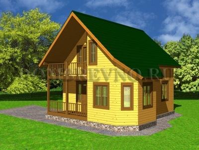 Дом из бруса №121 Млэль