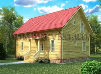 Дом из бруса №140 Элитариум