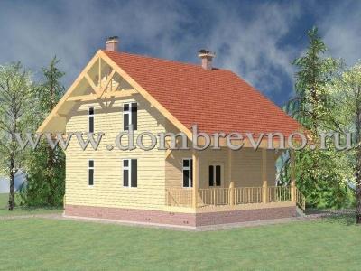 Дом из бруса Дачный
