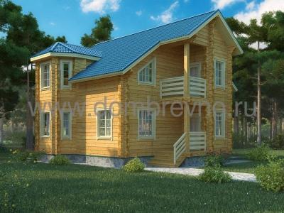 Дом из бруса №104 Икша