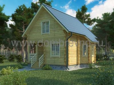 Дом из бруса №97 Теремок