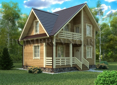 Дом из бруса №124 Виктория