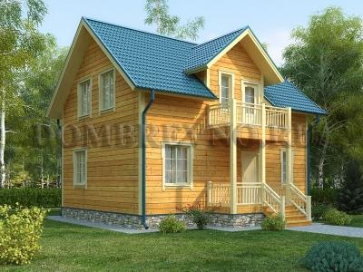 Дом из бруса №162 Деревянный