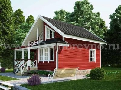 Дом из бруса №176 Лариса