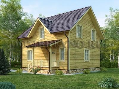 Дом из бруса №158 Пион
